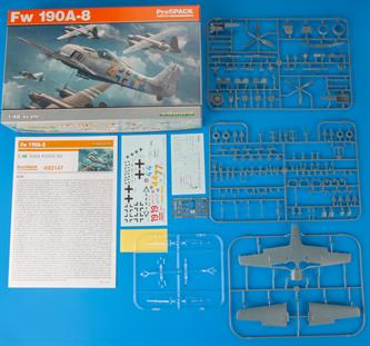 Eduard ProfiPACK 82147 1/48th Scale Plastic kit of the German Focke Wolf FW-190A-a World War 2 Fighter Aircraft.Glue and paints are required