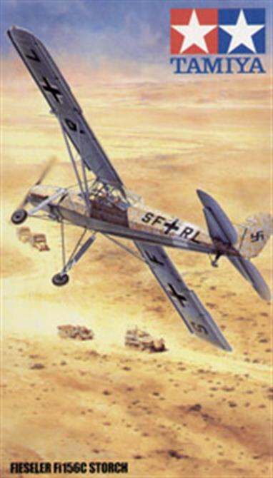 Tamiya's signature 1/48 scale Aircraft Series has now reached its 100th model! with this Tamiya 61100 German Fieseler Fil56C Storch.