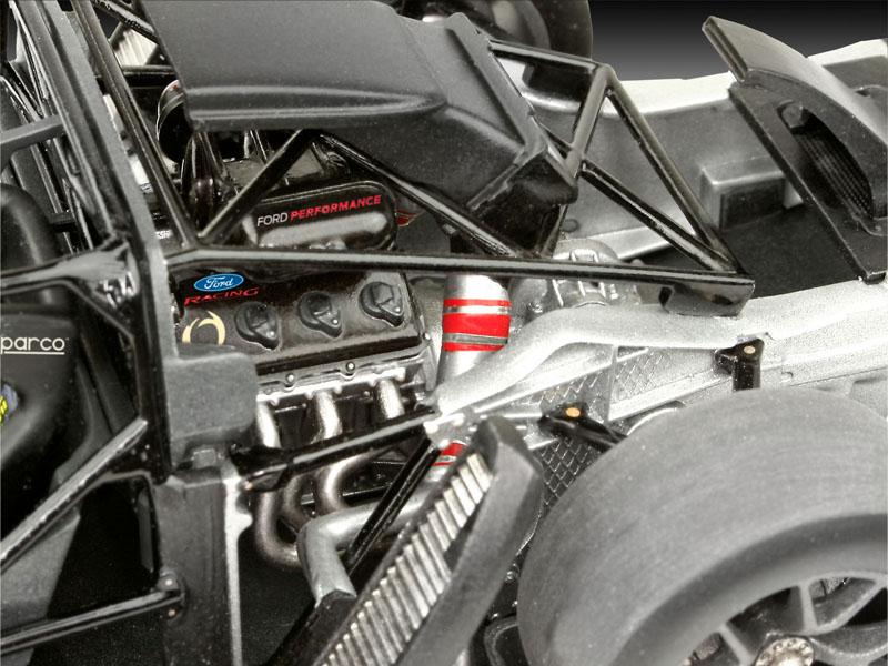 Rear Revell  Ford Gt Le Mans Race Car Model Kit  Main Front Cockpit Engine
