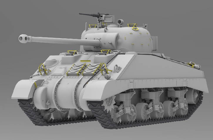 Ryefield RM5038 1//35 scale BRITISH SHERMAN VC W//WORKABLE TRACK LINKS TANK MODEL