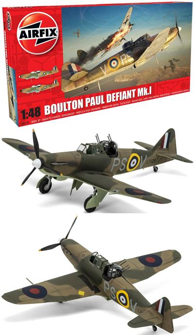 Airfix	Boulton Paul Defiant Mk1 WW2 Fighter Aircraft Kit	1/48	A05128