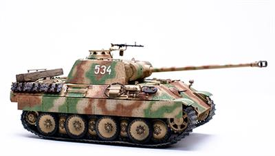 Meng TS-035 is a 1/35th Scale Plastic Kit  of a German WW2 Sd.Kfz 171 Panther Ausf A Tank