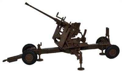 Oxford Diecast 76BF001 is a 1/76th scale diecast model of a British Brown 40MM Bofors Gun