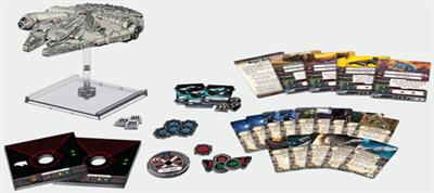 Fantasy Flight Games SWX06 is a Millennium Falcon Expansion Pack for the Star Wars X-Wing Game