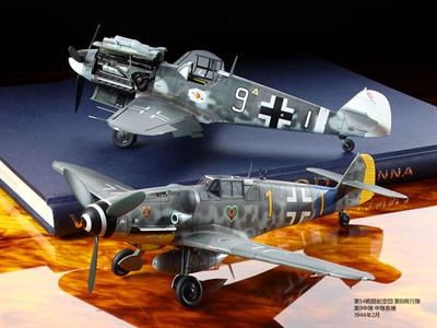 Tamiya 61117 is the 2018 tooling of a 1/48th scale plastic kit of  the German WW2 Messerschmitt BF109G6 Fighter Aircraft