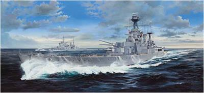 This massive Trumpeter 03710 is a 1/200th scale plastic kit of the pride of the Royal Navy Battlecruiser, HMS Hood!