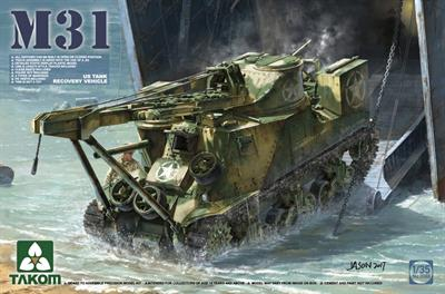 Takom 2088 a 1/35th scale plastic kit of a US Army M31 Tank Recovery Vehicle