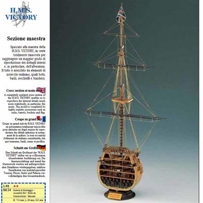 Corel SM24 is a cutaway section wooden kit of HMS Victory as in 1805
