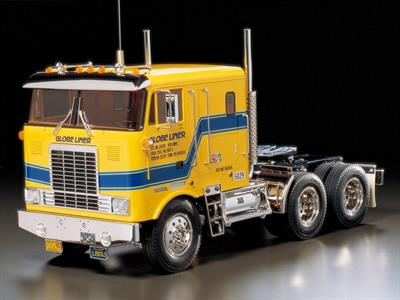 Tamiya 56304 is a 1/14th scale radio control kit of a American Globe Liner Tractor Unit Construction Kit