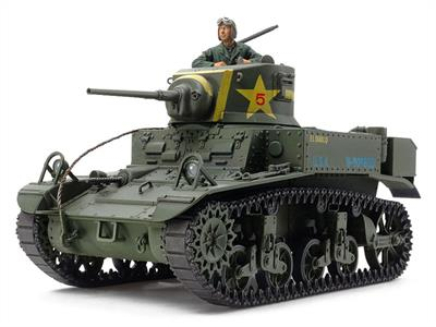 Tamiya 35360 is a 1/35 Scale plastic kit of a US M3 Stuart Light Tank Late Production